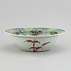 A famille rose 'cabbage' basin, qing dynasty, 19th century.