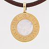 Bulgari, pendant, 18k gold and steel with mother of pearl.