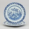 A pair of blue and white serving dishes, qing dynasty, qianlong (1735-95).