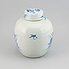 A large blue and white jar, qing dynasty, 19th century.