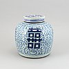 A blue and white jar with cover, qingdynasty, 19th century.