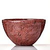 "Paolo venini, a burgundy and white ""murrina"" bowl, italy 1950's."
