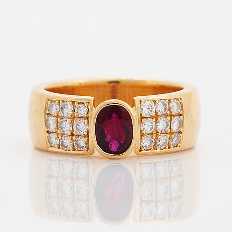 Ruby and diamond ring, hans rosin.