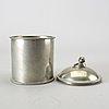Firma svenskt tenn a tin jar with lid, stockholm 1928, model a 595.