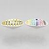 Stig lindberg, två fat och tre skålar, fajans, gustavsberg studio.