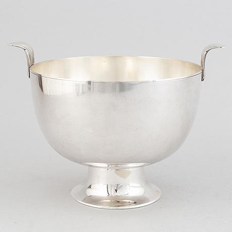 Karl wojtech, a silver plated bowl, circa 1925.