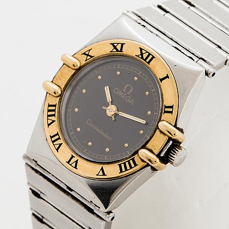 Omega, constellation, wristwatch, 22,5 mm.