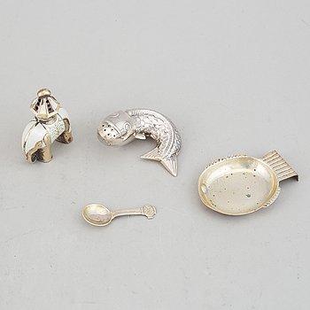 Saltkar, 3 st, silver, bl a Sven-Arne Gillgren, GAB.