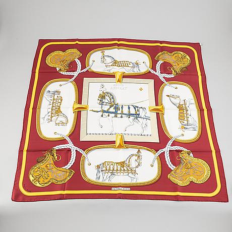 Hermès, a 'grand apparat' silk scarf.