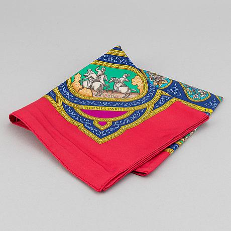Hermès, a 'qalamdan' silk scarf.