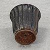 A cast iron garden urn, 20th century.