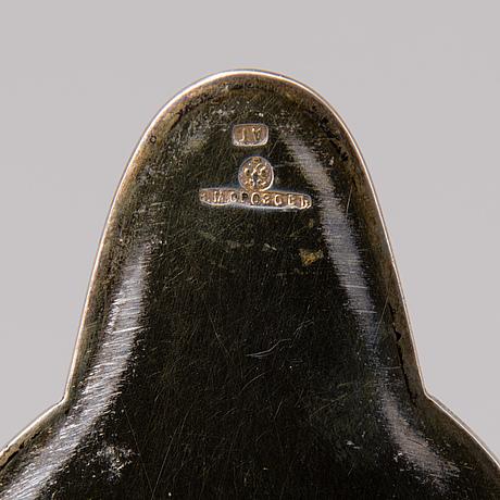 A russian silver decanter, morozov, st:petersburg ca 1900.