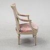 A gustavian armchair.