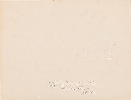 Magnus enckell, watercolour, unsigned.