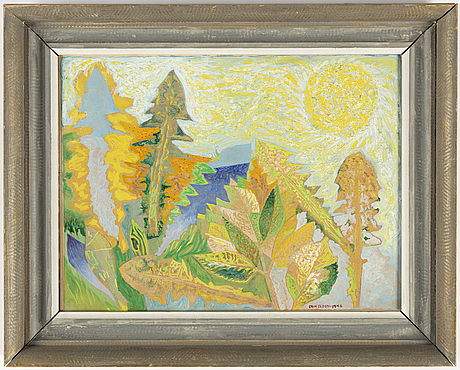 Erik olson, oil on panel, signed and dated 1946.