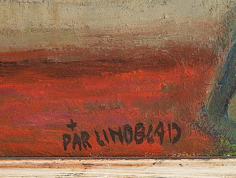 Pär lindblad, oil on panel, signed.