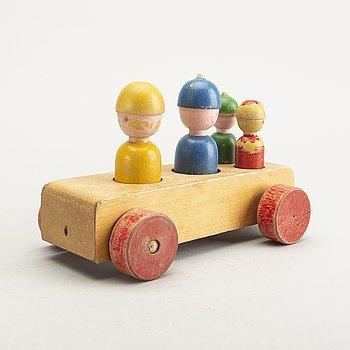 "Kay Bojesen, ""Family on a trip"", toy, 1950s-60s."