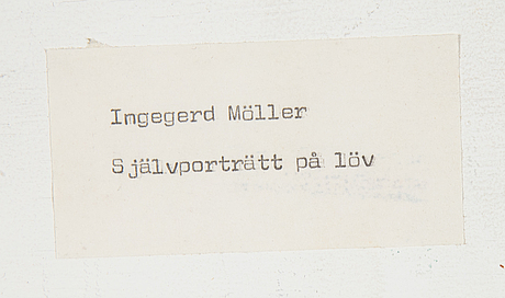 Ingegerd möller, mixed media and collage in plexi. signed.