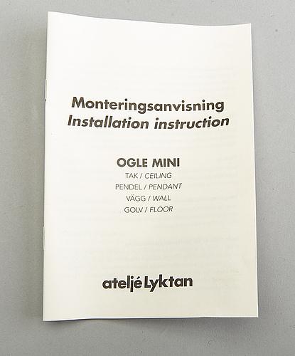 "Form us with love, taklampor, 3 st, ""ogle mini"" för ateljé lyktan 2000-tal."