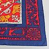 Hermès, an 'early america' silk scarf.