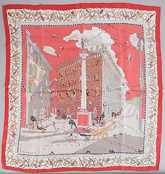 Salvatore Ferragamo, a silk scarf.