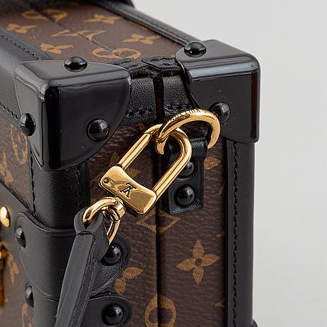 Louis vuitton, a monogram canvas 'petite malle trunk messenger bag', 2018.