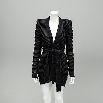 Balmain, a knitted mohait mix cardigan, French size 40.