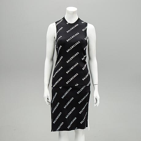 Balenciaga, top och kjol, storlek l.