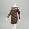 Fendi, a cotton mix dress, italian size 44.
