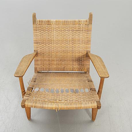 """Hans j wegner, armchair, """"ch-27"""", carl hansen & son, denmark, second half of the 20th century."""