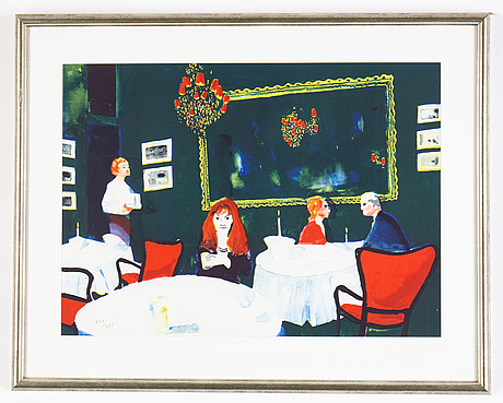 Peter dahl, lithograph in colors, signed and 230/375.