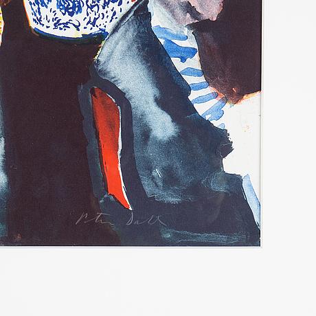 Peter dahl, färglitografi, signerad och numrerad 375/375.