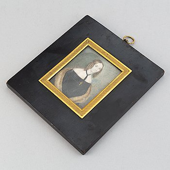 Unknown artist of the 19th Century. Miniature. Unsigned.