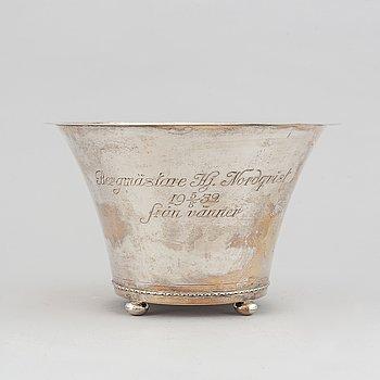 A Swedish silver bowl, marked GAB, Stockholm 1929.