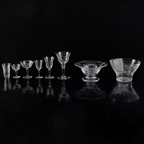 A glass service, 81 pcs, from kosta, sweden.