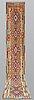 A runner, kilim, ca 494 x 77 cm.