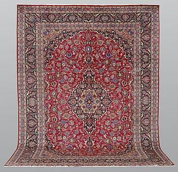 A carpet, Mashad, ca 387 x 297 cm.