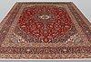 A carpet, kashan, ca 398 x 293 cm.