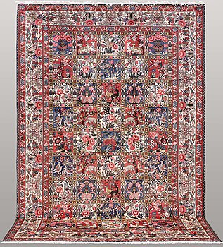 A carpet, Figural Bakhtiari, ca 305 x 205 cm.