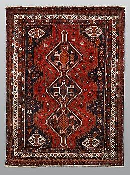 A carpet, Kashgai, ca 253 x 180 cm.