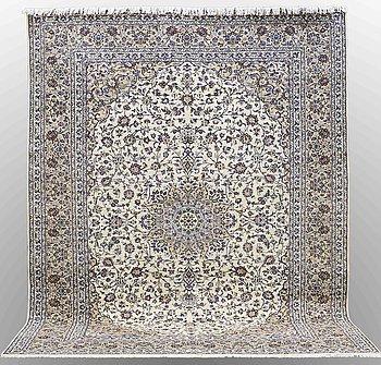 A carpet, Keshan, ca 393 x 299 cm.