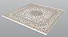 A rug, nain part silk s.k 6 laa, ca 210 x 206 cm.
