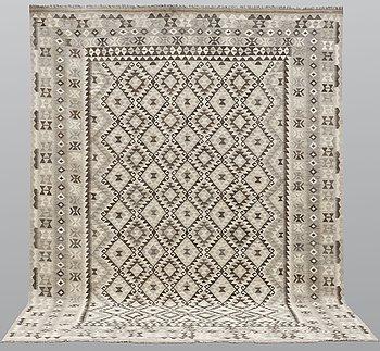 A carpet, Kilim, ca 394 x 309 cm.