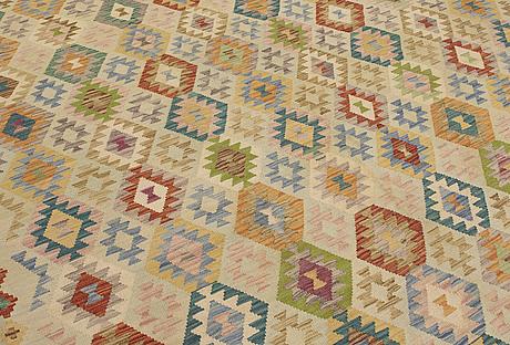 A carpet, kilim, ca 365 x 242 cm.