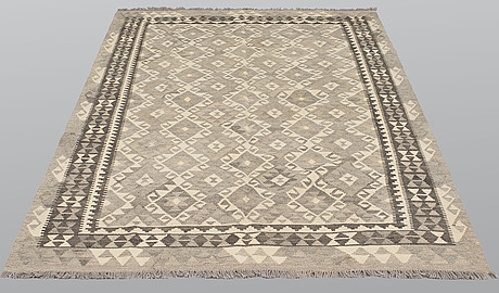 A carpet, kilim, 241 x 162 cm.