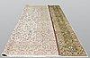 A carpet, kashan, ca 396 x 314 cm.