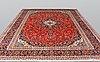 A carpet, kashan, ca 410 x 295 cm.