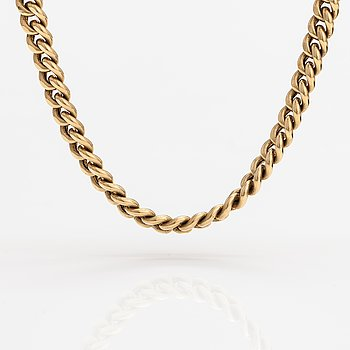 A 14K gold chain. FInnish import marks, 2000.