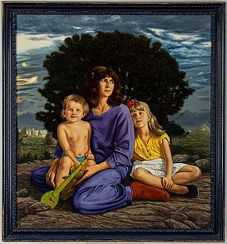 Lennart Olausson, oil on panel, signed and dated -78.