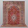 A carpet, kashan, ca 355 x 248 cm.